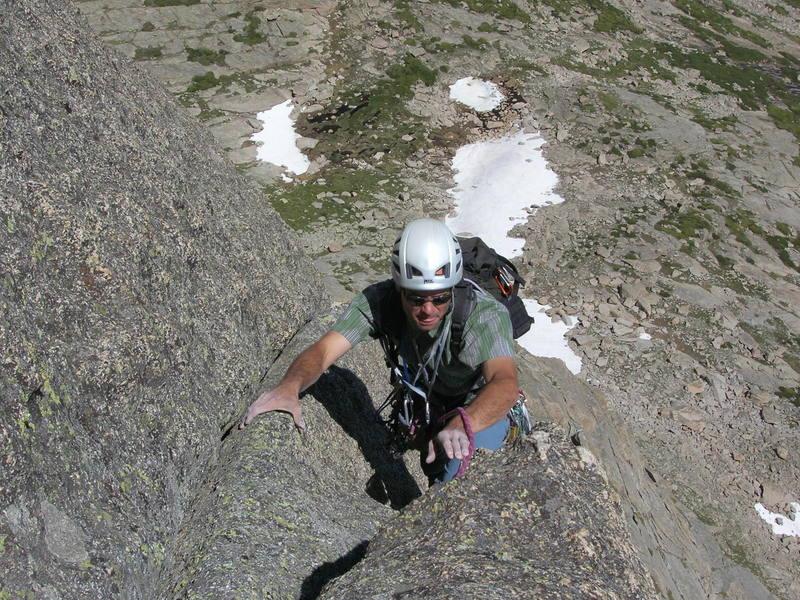 Jim nearing the top.