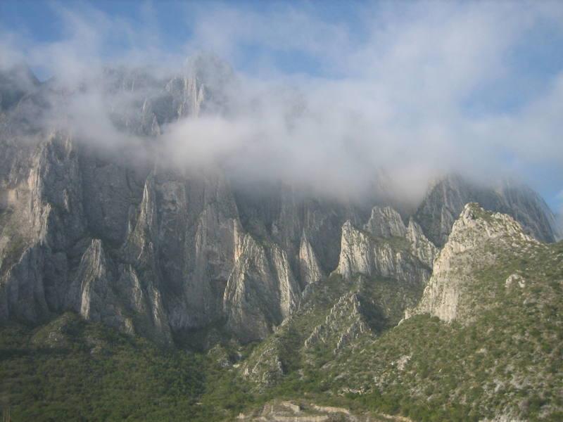 El Potrero in the morning clouds.