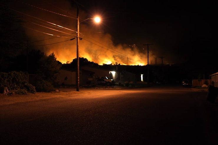 Sage Fire above Big Pine.