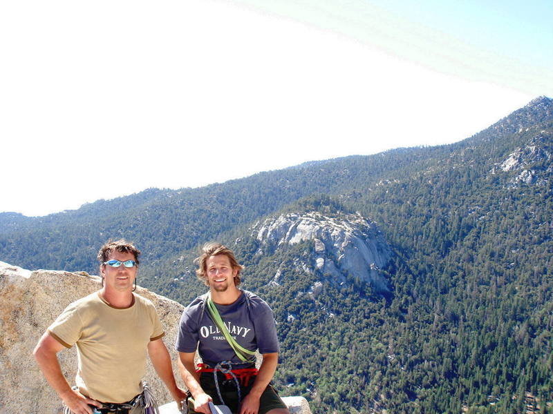 Chris and I atop Angel's Fright.  (5.6)  Suicide across the valley.