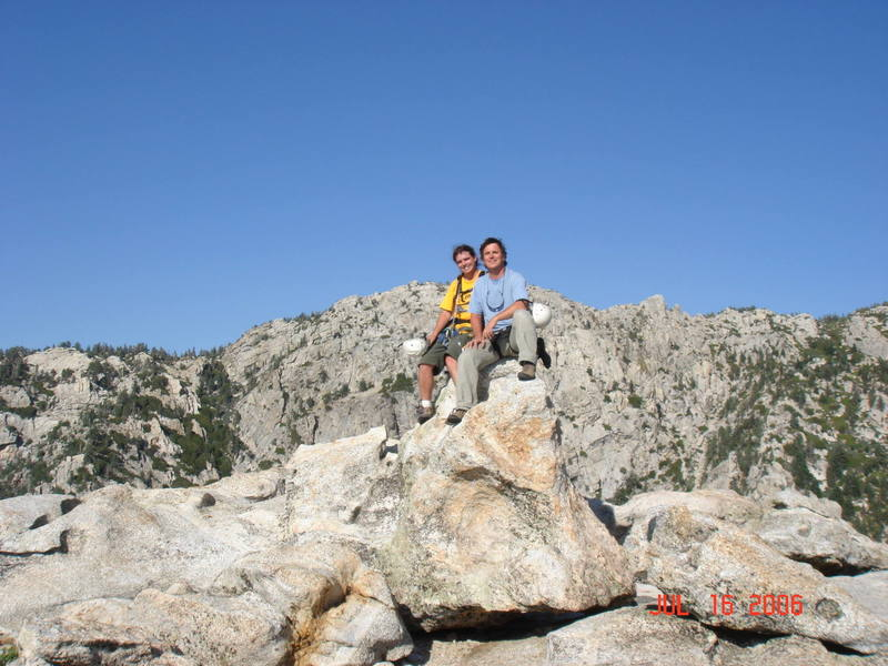 David and I - Tahquitz summit.