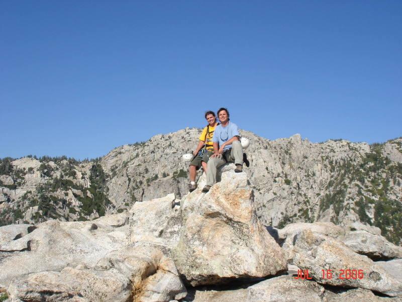David and I - Tahquitz summit.