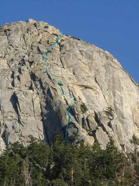 Topo for my first time climbing White Maiden's - 5.3 variation to P3 and 5.7 direct finish