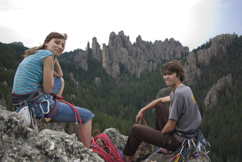 Darin and Gosia enjoying the view from the top of Picture Rock.