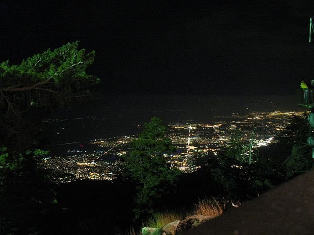 Night view from Mountain Station, Tramway