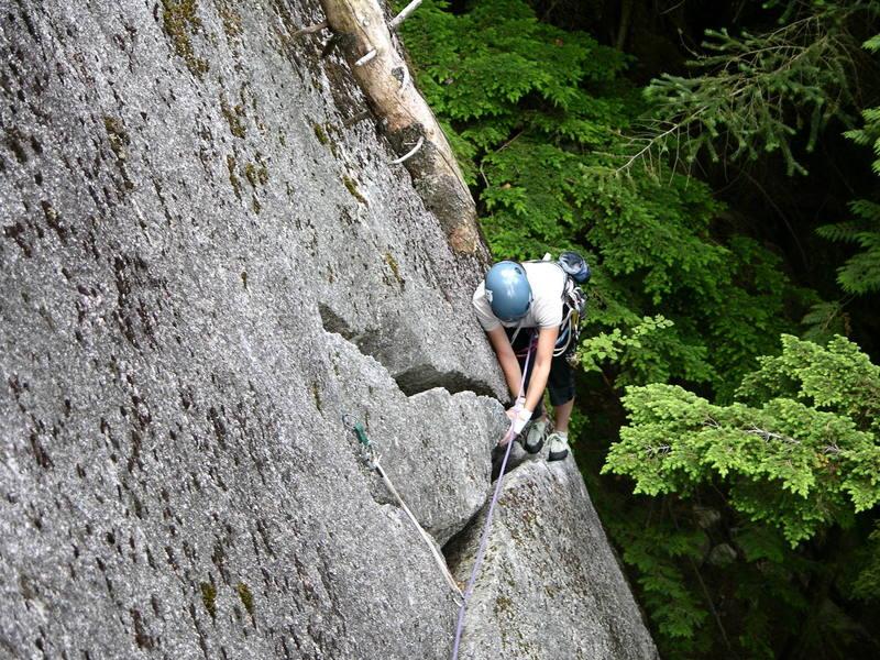 Kari making her way up Fungus the Bogey Man