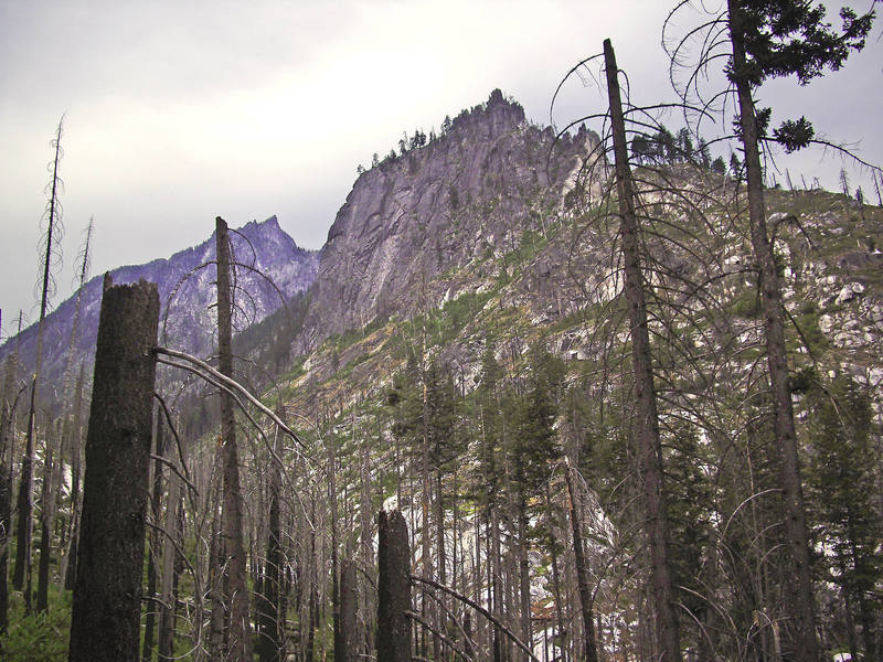 Snow Creek Wall from the trail.
