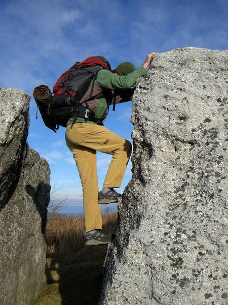 Bouldering on a fine November morning at Spruce Knob