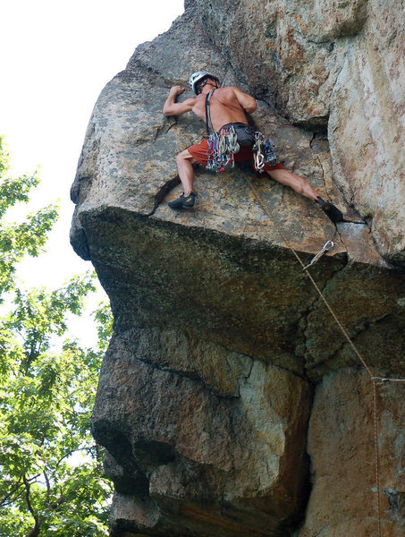 Just after the crux.