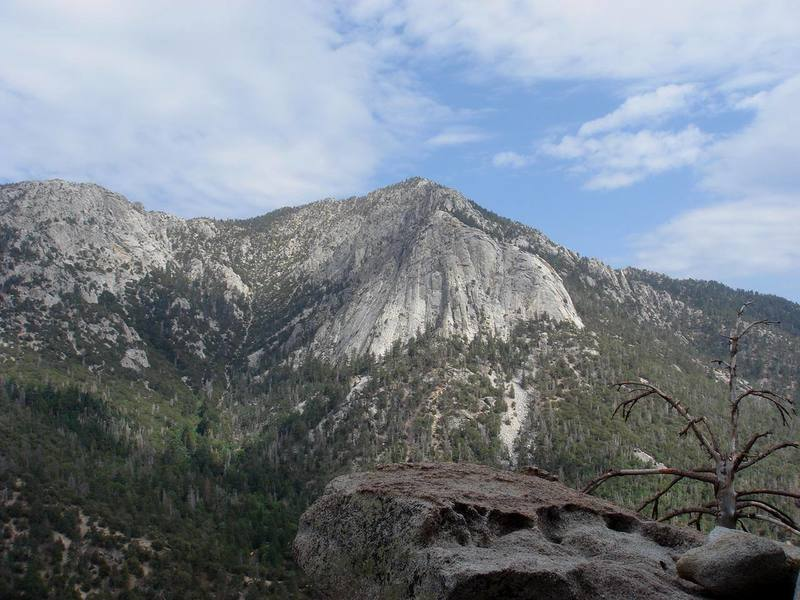Tahquitz from the top of Frustration (5.10a), Suicide