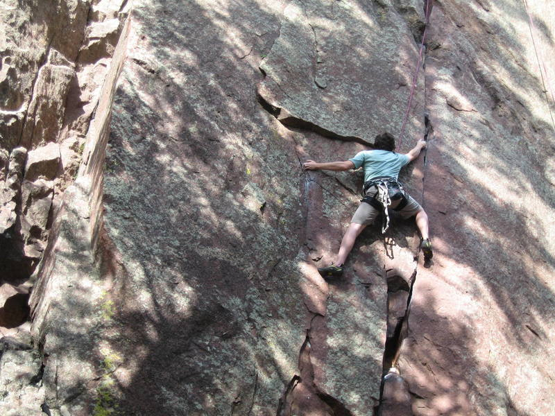 Top rope on Chockstone after we were done with GAmbit