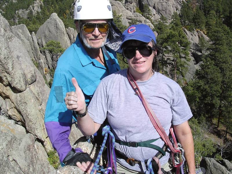 Dave Meyer (78) and Lenore Sobota on summit of Sharks Fin.