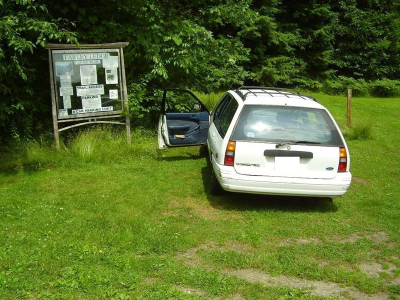 Farley parking...be considerate of the landowners!
