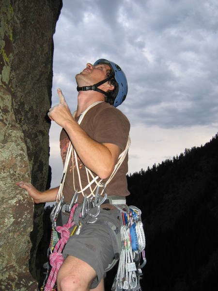 Mike giving detailed route tracing on Ruper... uhhhh this pitch like goes up this way...