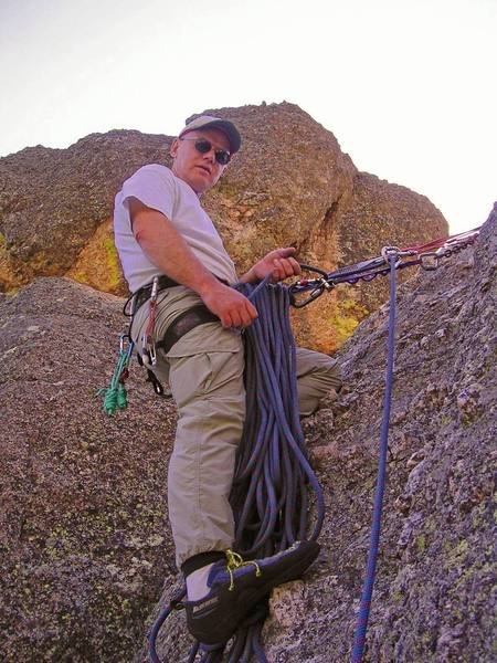 Intermediate anchor/belay for climbs on Old People's Dome