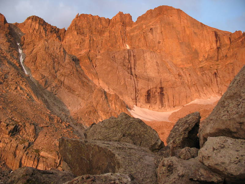 The East Face of Longs at Sunrise.