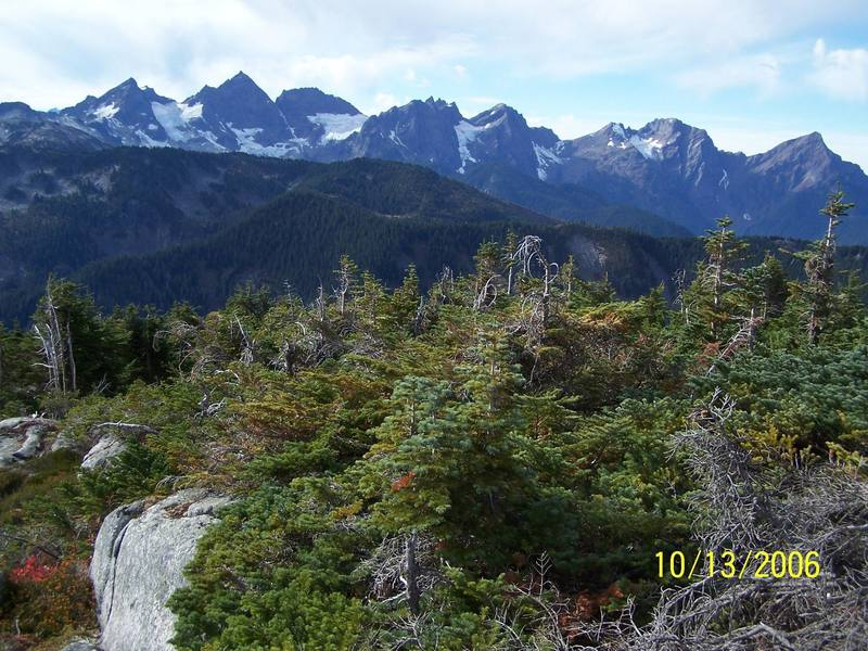 The Cheam Range From the East, Cheam Peak on right side of photo..Foley Peak on left side of photo.
