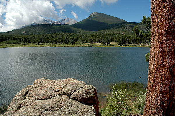 Lily Lake near Estes Park.<br> Photo by Blitzo.