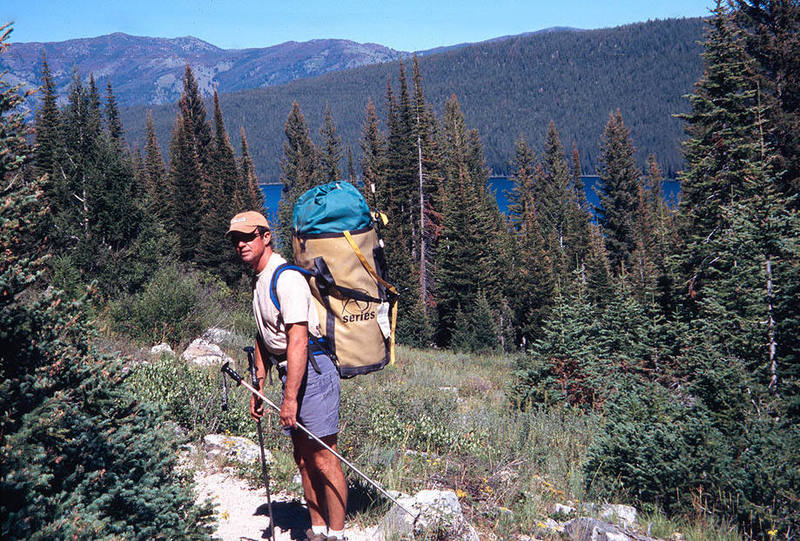 Hiking back to catch the boat across Redfish Lake.