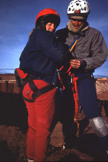 Dave Evans and Margie Evans on the summit of Standing Rock.  Photo; Todd Gordon
