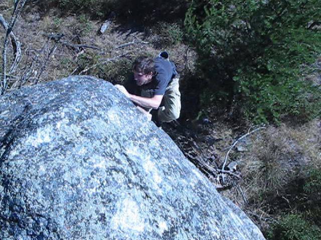 John Knoernschild 2nd ascent of Wolf's Nose V1+