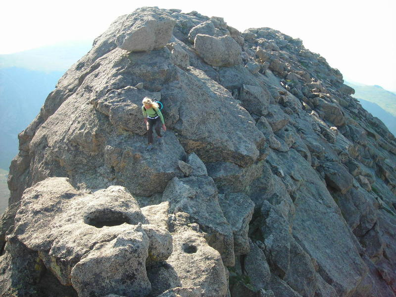 Tracy enjoying Bierstadt's early bird special, the Granite Scramble.