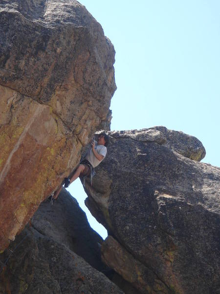 Tom D - clipping mid-crux