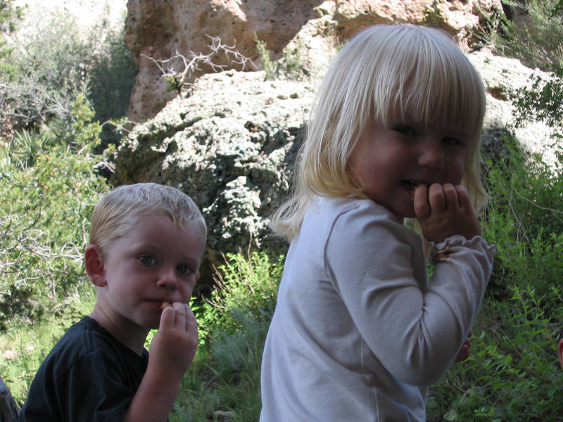 Miles and Piki (they look like they could be siblings!). Enchanted Tower, New Mexico. August 2007