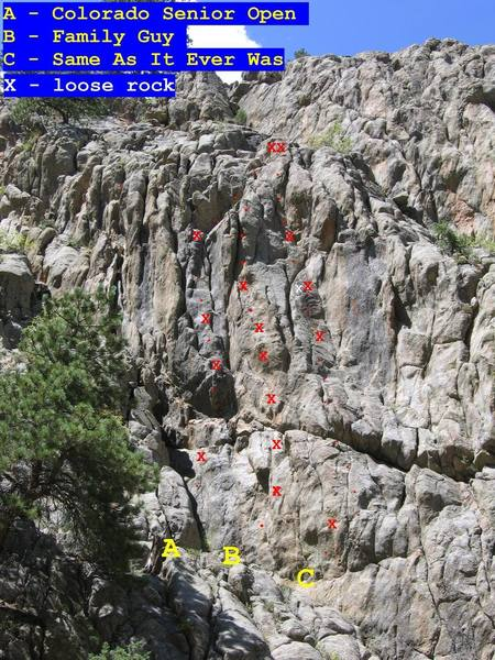 New climbs at Boulder Slips area.