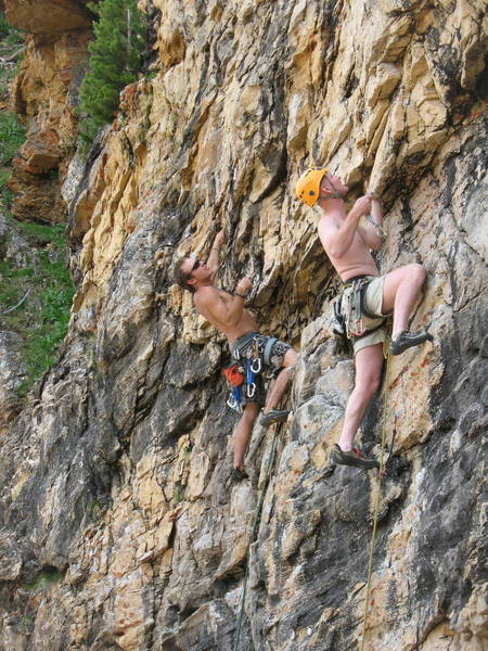 mike bird & Luke Douglas on cecret stash wall