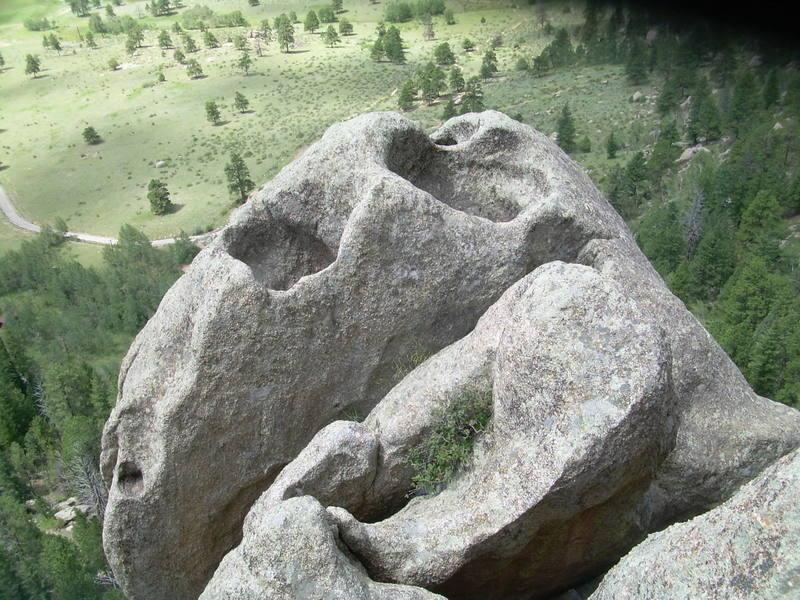Mitten summit, near the top of P2.