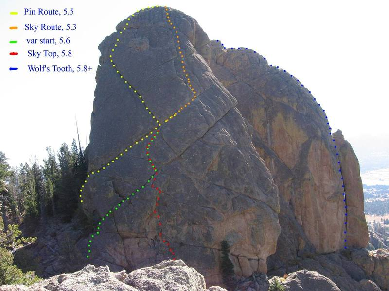 Hopefully, this helps with the lines on the NW face.  Link to [[original photo]]105911387.