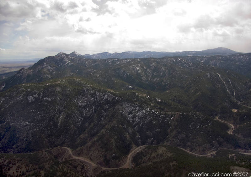 Photo of east Boulder Canyon from the air.