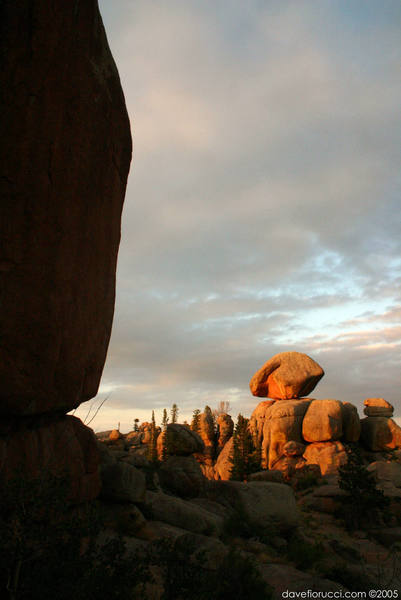 View from the Nautilus, of the balanced rock.