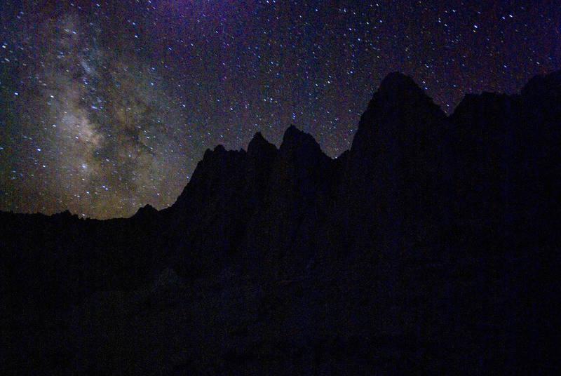 Night sky at Iceberg Lake.