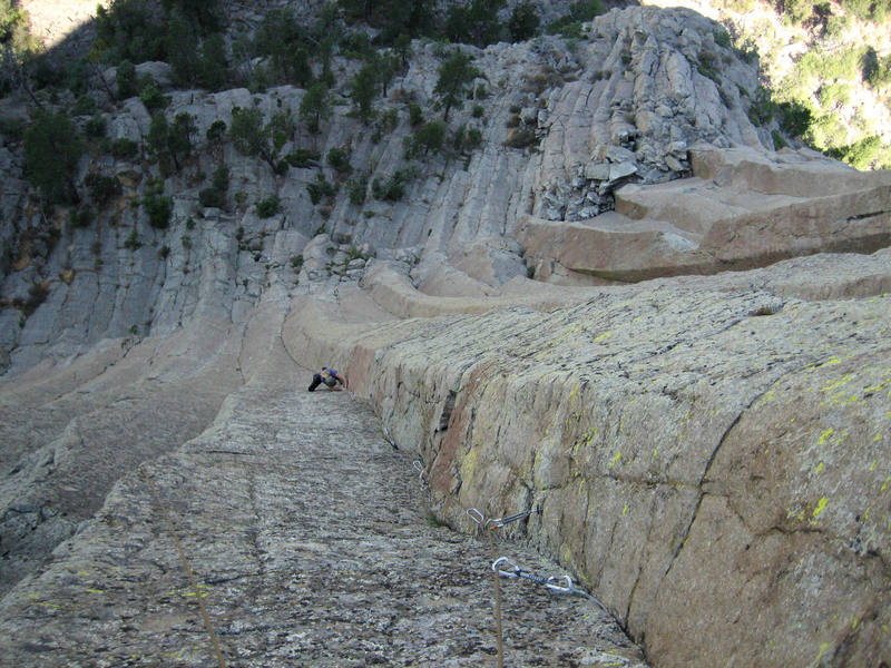 DJ DP on the crux of Deli Express, Devil's Tower