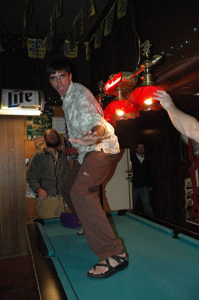 You really can't swim on a pool table!