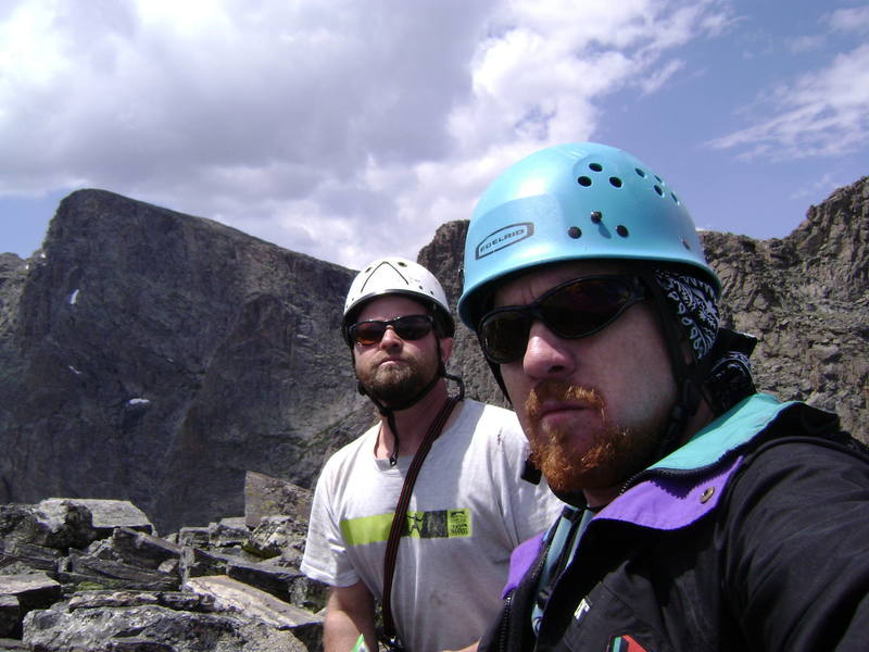 Summit Shot of Tom Holman and Me.