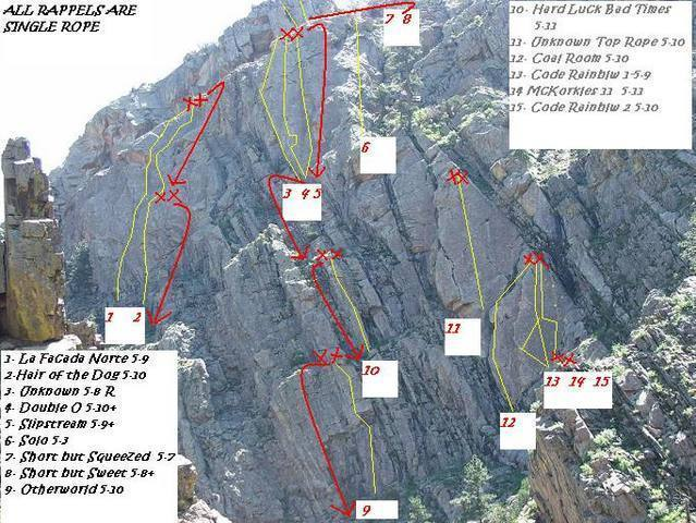 All of the upper slabs uphill from the 0.6 mile mark.  Big T Canyon.