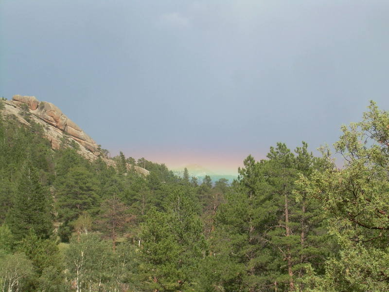 Interesting rainbow.
