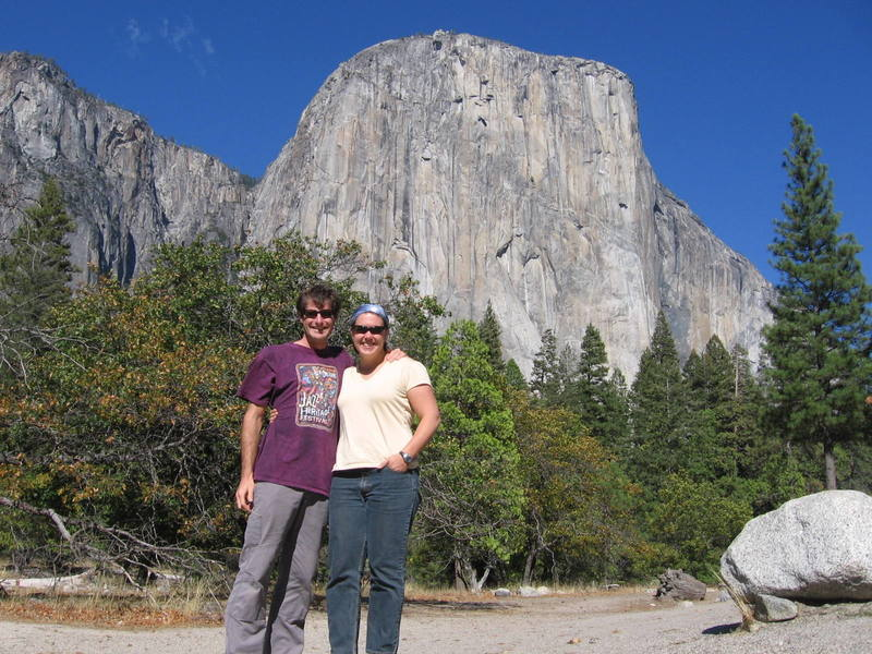 Aaron and Olivia in Front of Elcap
