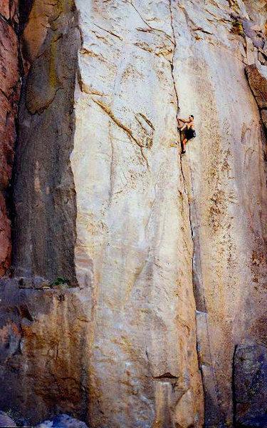 O.R.G.asam (5.11a), Owens River Gorge<br> <br> Photo by Tyler Logan