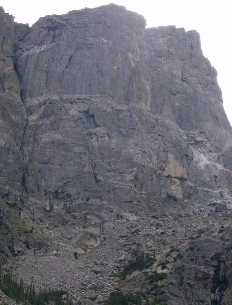 View of the second buttress of Hallett.