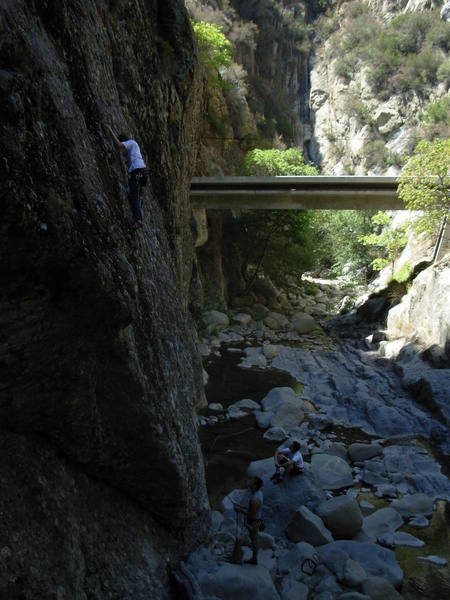 Hanging out in wheeler gorge, he fell just after this picture was taken