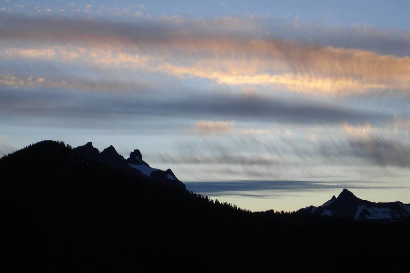 Darrington sunset, Three Fingers peak on the left