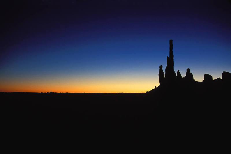 The Totem Pole at sunrise.