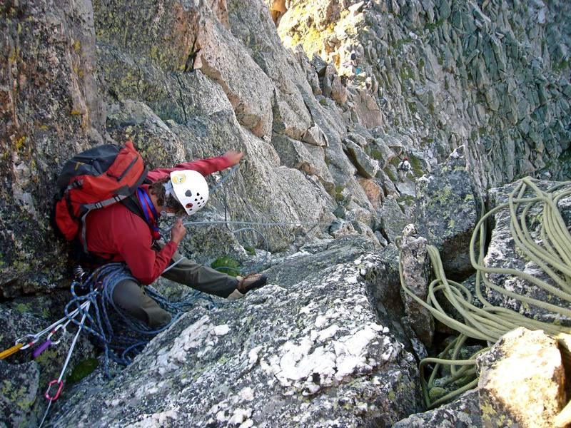 Belaying my partner Brian up on Blitzen Ridge in RMNP.