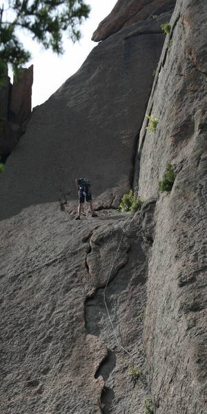 Another shot of me at the belay.
