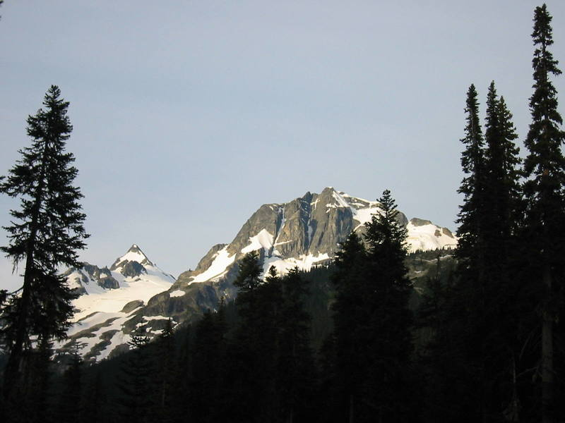 Mt. Matier on the left, Joffre on the right.