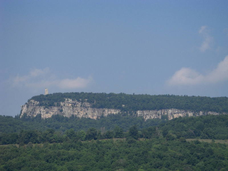 View of Mohonk Mountain from Butterville Rd